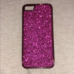 iPhone 5/5s case pink glitter